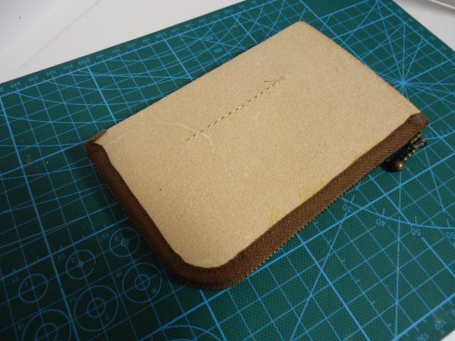ファスナーを綺麗に貼り付ける 木型の代用を作ってみた