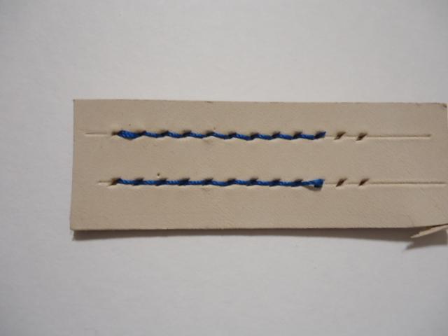レザークラフト 縫い目が綺麗になる手縫いの方法