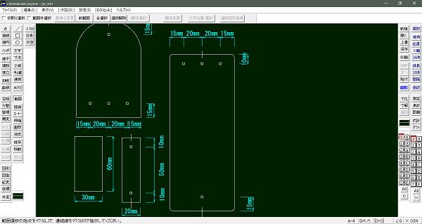 レザークラフトの型紙をJW-CADで作成する インストールと設定編
