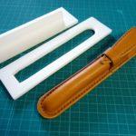 レザークラフトの木型絞り 簡単な木型の作り方
