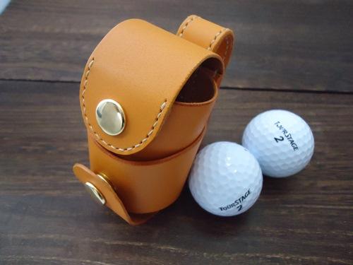 ベルト装着タイプのゴルフボールケース