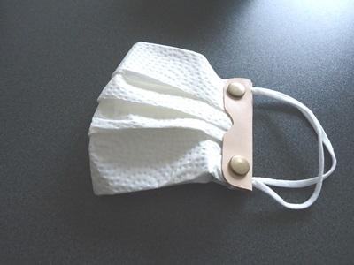 本革のマスクホルダーの型紙と作り方
